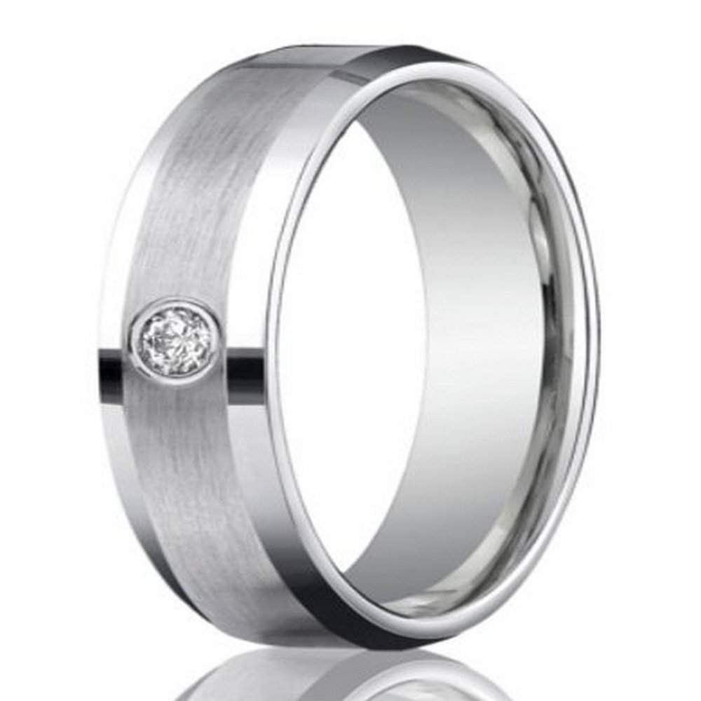 6mm men's 950-platinum single diamond wedding ring | justmensrings