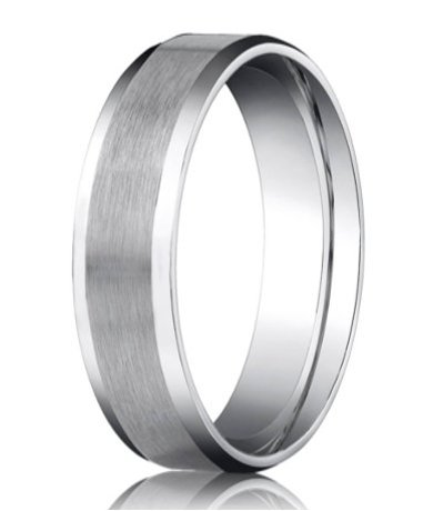 78865929df788 Designer Palladium Men's Wedding Ring With Beveled Edges | 6mm