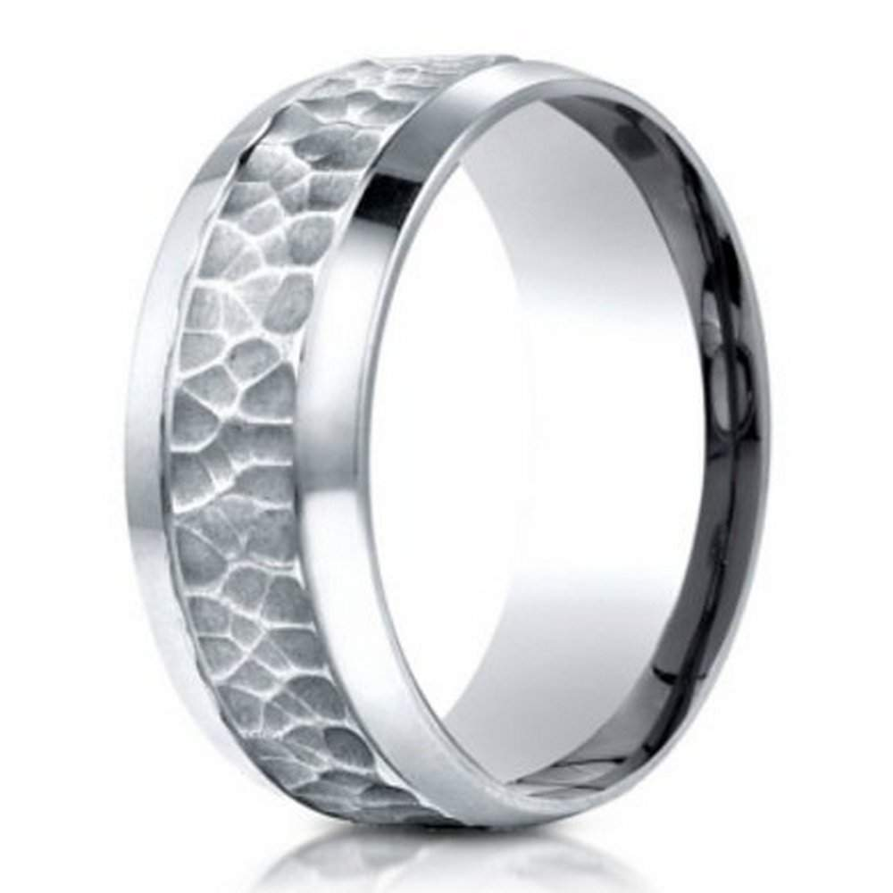 men's palladium band in hammered finish | 7.5mm: just men's rings