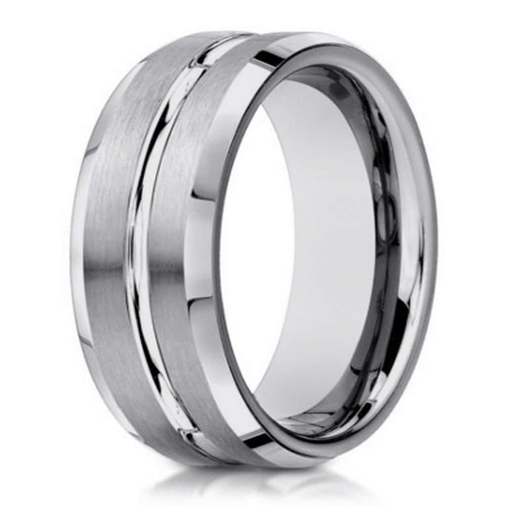 men's 14 k white gold wedding band | 6mm width
