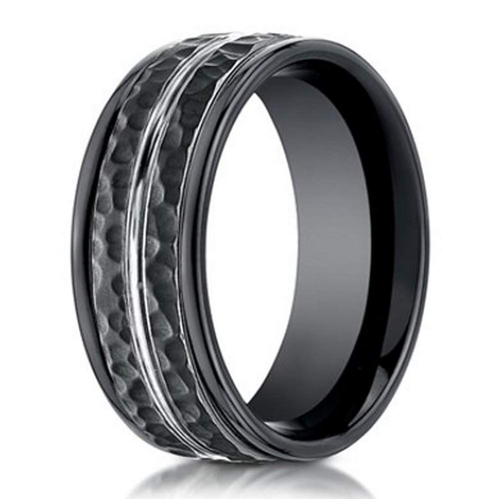 wedding cobalt rings sapphire chrome fiber inlay ring home carbon blue loading band zoom