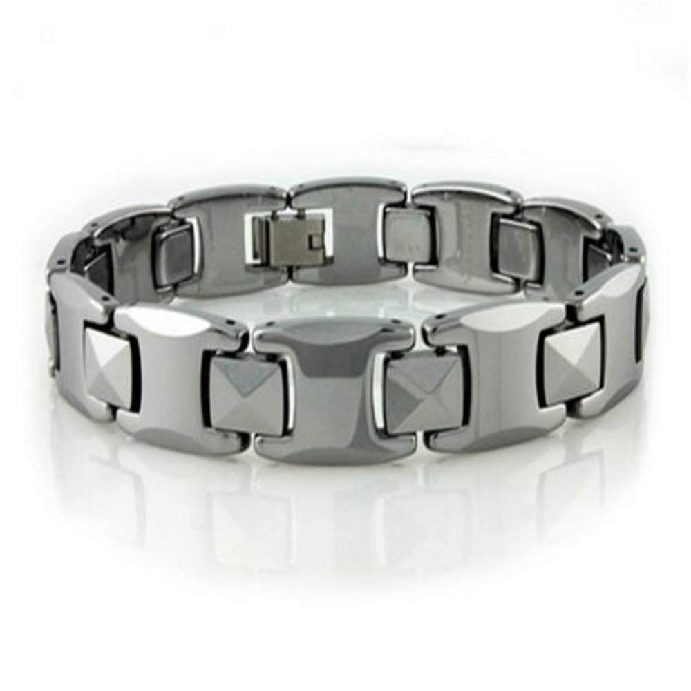 jewelers product bracelet berdalli tungsten checkered red