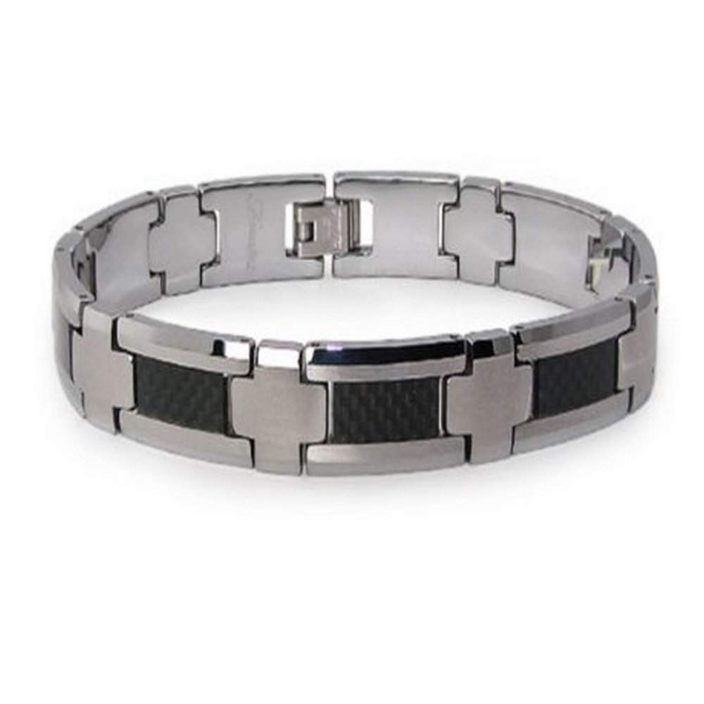 s carbon bracelet men carbide fiber en bracelets tungsten inlay magnetic