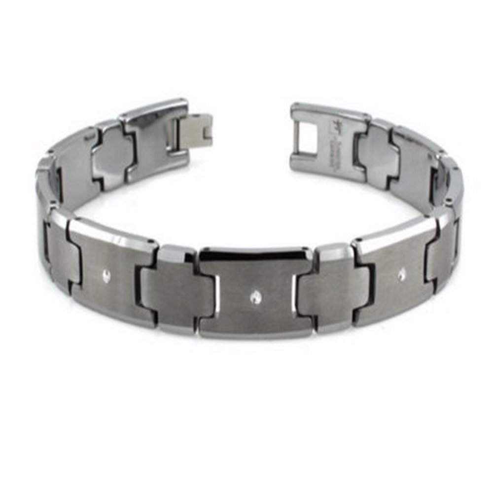 carbidecushion magnetic bracelet itm link women shaped men h tungsten
