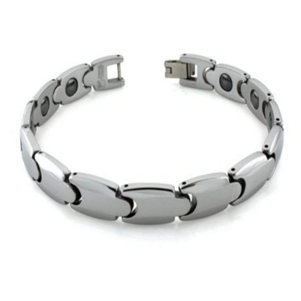 bracelet with width for p mens quick view and men links black cross inlay tungsten carbon