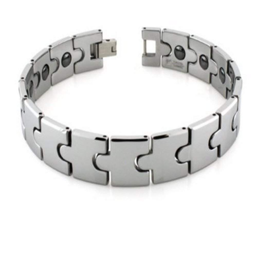 link men itm tungsten magnetic carbidecushion h bracelet shaped women