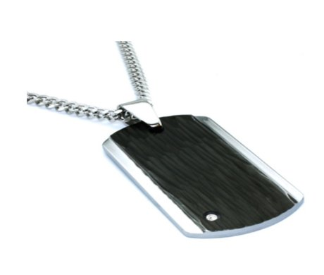 Tungsten pendant for men with hammer look 24mm width quick view aloadofball Choice Image