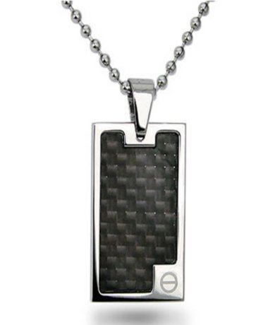 Pendants for men high with black carbon fiber inlay 22 bead chain quick view aloadofball Images