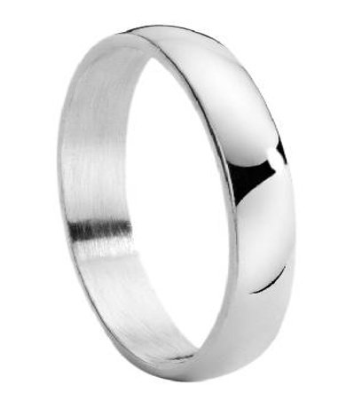 Men Silver Satin Ring | Polished Edges