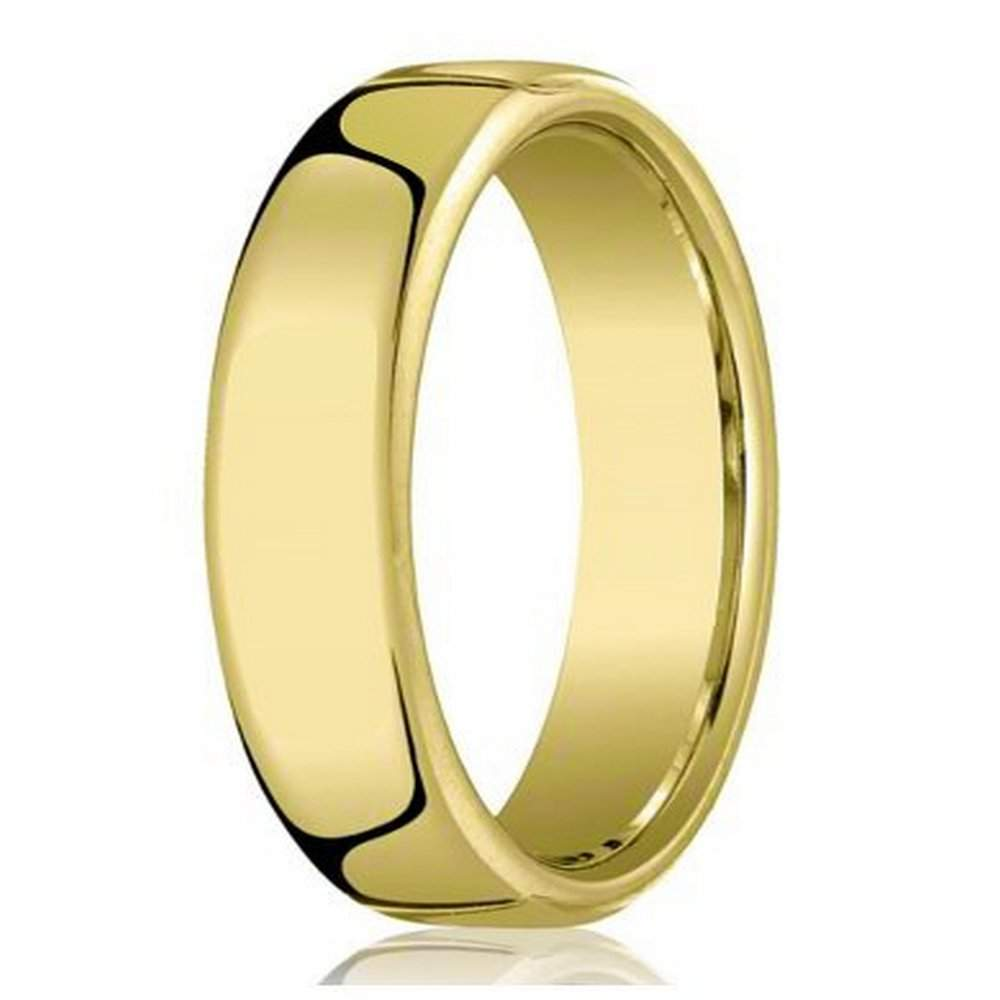47df86f50130a Designer 18K Yellow Gold Wedding Band For Men With Heavy Comfort Fit | 6.5mm