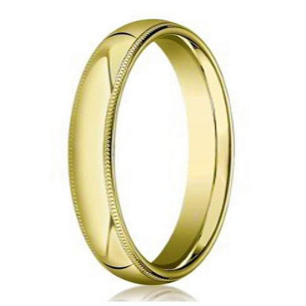7d990015094fb Designer Men's 18K Yellow Gold Wedding Ring with Milgrain | 4mm