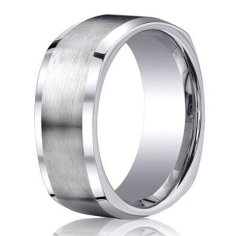 wedding convex band bands rings fit shop cobalt comfort benchmark ring chrome