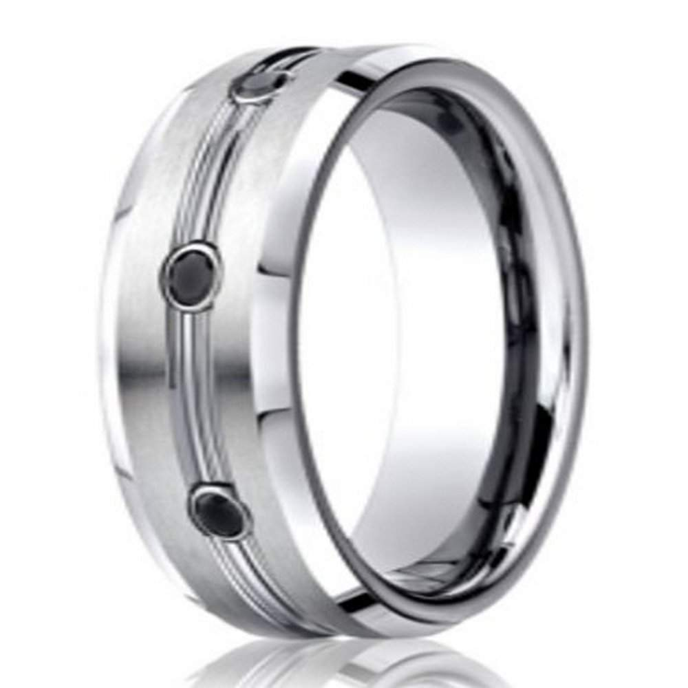 rings band men with in designer and p ring polished edges wedding view quick chrome cobalt finish for beveled concave satin