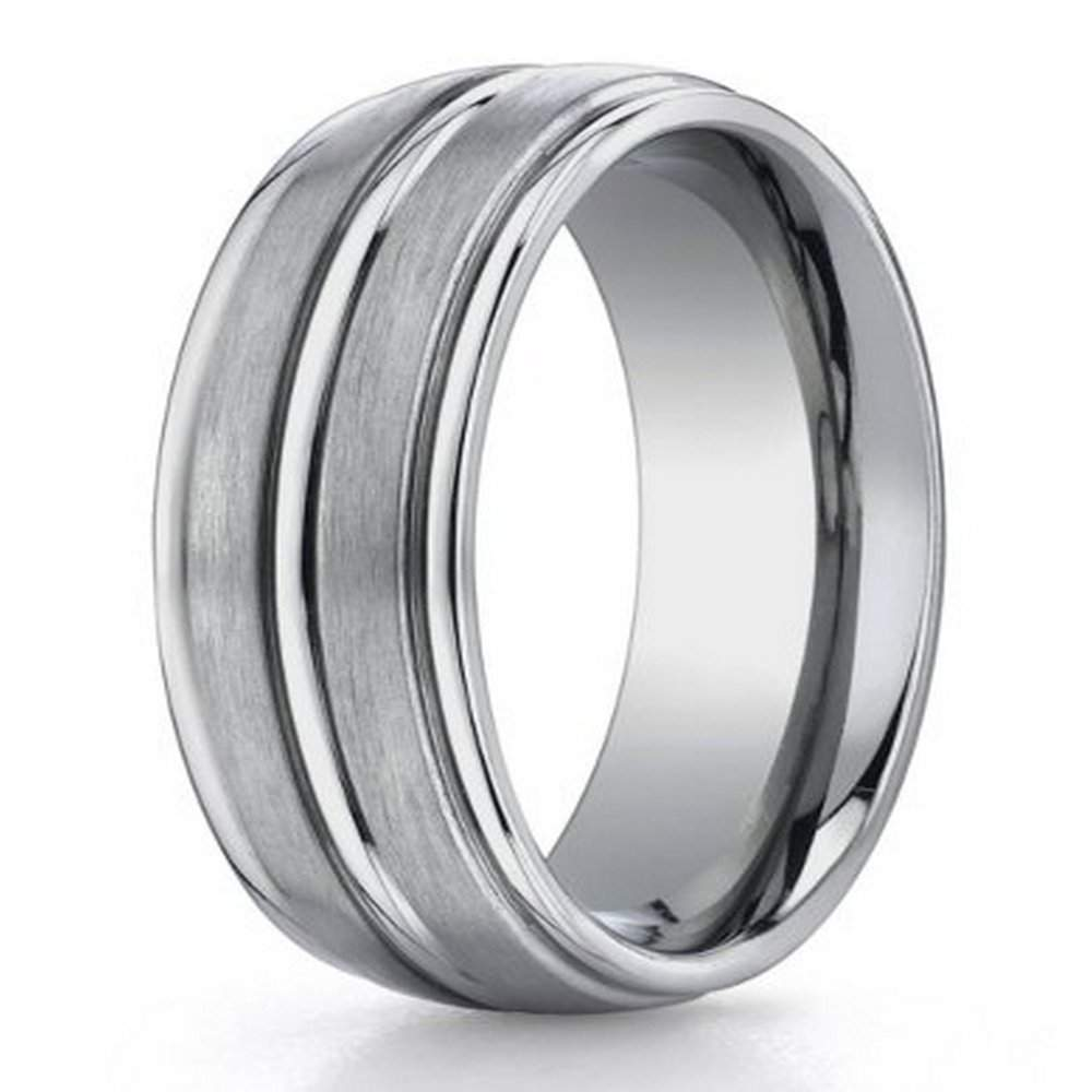 men's designer titanium ring in comfort fit from benchmark | 8mm