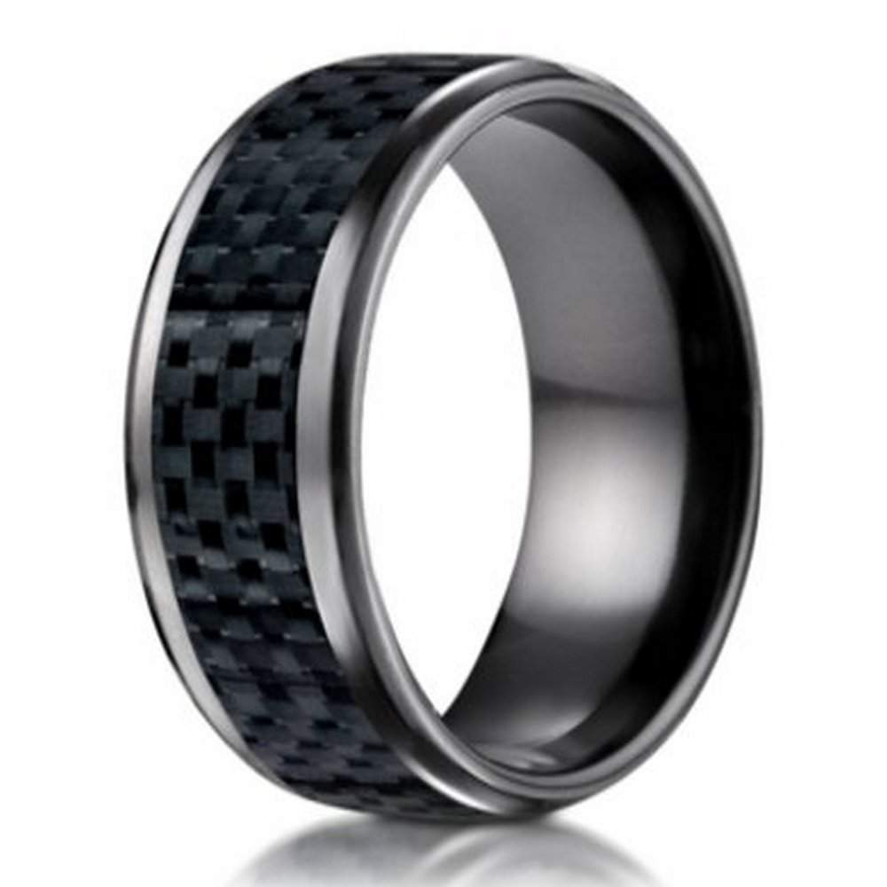 wedding two tone ring mens kay titanium rings