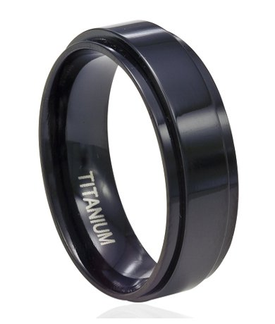 Mens Titanium Spinner Rings